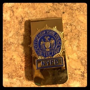 Other - Gold Nypd detective mini badge money clip